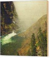 Base Of The Falls 2 Wood Print