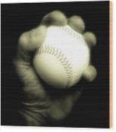 Baseball 2 Wood Print