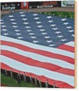 baseball all-star game American flag Wood Print