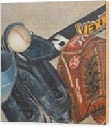 Baseball Allstar Wood Print by Teri Vaughn