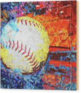 Baseball Art Version 6 Wood Print
