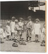 Baseball: Boys And Girls Wood Print by Granger