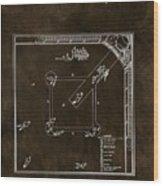 Baseball Game Patent Wood Print