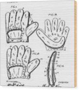 Baseball Glove Patent 1910 Wood Print