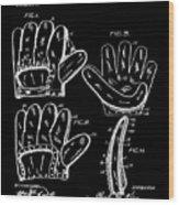 Baseball Glove Patent 1910 In Black Wood Print