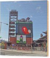 Baseball In Philadelphia - Citizens Bank Park Wood Print
