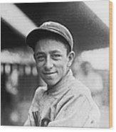 Baseball Mascot Eddie Bennett Wood Print