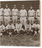 Baseball: Negro Leagues Wood Print
