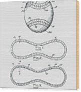 Baseball Patent 1928 Wood Print