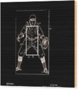 Baseball Pitcher's Practice Target Patent 1924 Wood Print