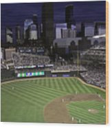 Baseball Target Field  Wood Print by Paul Plaine