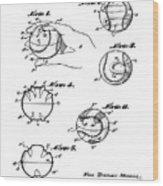 Baseball Training Device Patent 1961 Wood Print