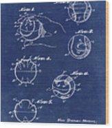 Baseball Training Device Patent 1961 Blue Wood Print