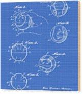 Baseball Training Device Patent 1961 Blueprint Wood Print