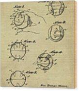 Baseball Training Device Patent 1961 Sepia Wood Print