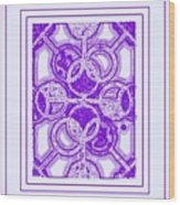 Bases Loaded In Purple Wood Print