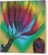 Basia Plant Wood Print