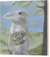Basil Bunny Wood Print