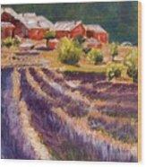 Lavender Smell Wood Print