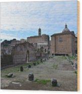 Basilica Aemilia From Behind Wood Print