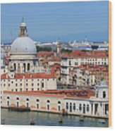 Basilica Della Salute And Punta Della Dogana In Venice Italy Wood Print