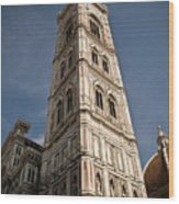 Basilica Di Santa Maria Del Fiore Tower  Wood Print