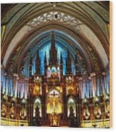 Notre - Dame Basilica - Montreal Wood Print