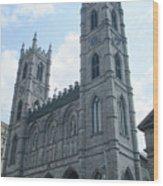 Basilique Notre Dame Wood Print