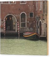 Basin In Venice Wood Print