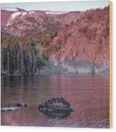 Basin Lake Sunrise 2 Wood Print
