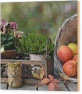 Basket Wood Print