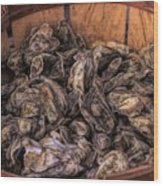 Basket Full Of Oysters Wood Print