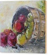 Basket Of Apples Wood Print