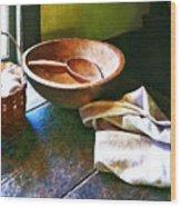 Basket Of Eggs Wood Print