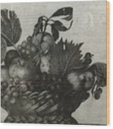 Basket Of Fruit Wood Print
