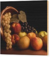 Basket Of Fruit Wood Print by Tom Mc Nemar