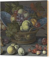 Basket Of Fruits Wood Print