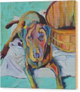 Basket Retriever Wood Print