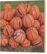 Basketbal Anyone Wood Print
