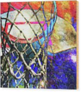 Basketball Artwork Version 179 Wood Print