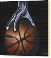Basketball Legend Wood Print