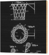 Basketball Net Patent 1951 In Black Wood Print