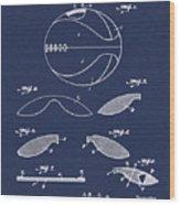 Basketball Patent 1916 Blue Wood Print