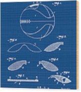 Basketball Patent 1916 Blue Print Wood Print
