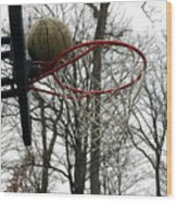 Basketball Practice Wood Print