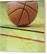Basketball Reflections Wood Print