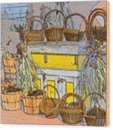Baskets Wood Print