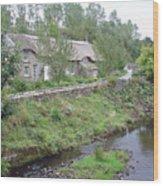Baslow Cottages Wood Print