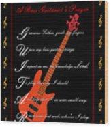 Bass Guitar_1 Wood Print by Joe Greenidge