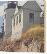 Bass Harbor Light Photo Wood Print